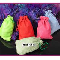 Thanksgiving   Natural Flax Bags 9.5cm x 14cm Thanksgiving Day Christmas Hallowmas Birthday Party Fashion Party Gift Wrap Packaging