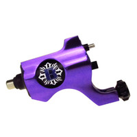 Wholesale Purple Color Bishop Rotary Tattoo Machine Gun RCA PLUG both for Shader Liner suit to Tattoo Power supply Needles Tips Grips Ink Cups Kits