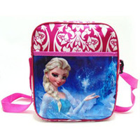 Wholesale Frozen CM Girls Cartoon Messenger bag Cross body bag Zipper cartoon children shoulder bag