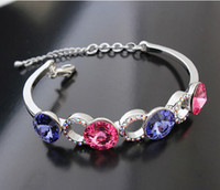 Wholesale Austria Crystal Bracelet Brand Jewelry Made With Swarovski Elements Fashion Charm Cuff Bracelets k Gold Plated