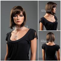 Wholesale women bob wigs dark brown color ladies wigs Synthetic fiber of Kanekalon pc S1325