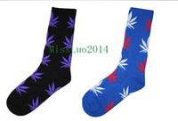 Wholesale 200pcs pairs marijuana leaf socks fashion socks plantlife crew weed socks skateboard sports stockings cotton