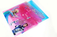 Wholesale Frozen Elsa Anna Cartoon School Stationery A4 File Pocket Study Supplies Snow Queen PVC Document Pouch Bags Pencil case Colours x23 CM