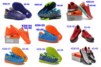 Mid Cut Men Summer 2014 New Kevin Durant VI Kd6 Mens Basketball Athletic Kd 6 Shoes Size 40-46 With Tick Swoosh Free Shipping