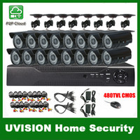 Wholesale HDMI ch DVR Kit CCTV System TVL Waterproof IR outdoor Cameras ch Security Camera system m cctv cable