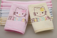 Wholesale 100 cotton scarf child small baby square facecloth faceable waste absorbing towel pieces per bag