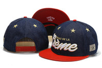 Wholesale Navy Cayler Sons Snapback with Red Leather Brim Mix order Ball Team Snapback Caps Fifty Snapbacks Sports hats Mix Order Albums offered