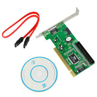 Wholesale New ports SATA IDE Serial HDD ATA PCI Card for PC Table Computer High Quality Freeshipping Wholesales