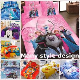 Wholesale New D cartoon Frozen bedding sets Princess Elsa Anna bed set quilt cover kids cotton duvet bedspread children bed linen quilt