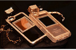 Wholesale Bling rhinestone perfume bottle case special for i4 s i5 s S3 S4 S5 Note2 Note3