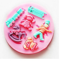 Set Silicone FDA Baby Doll Soldier Design 9 Cavities Fondant Mold Handmade Silicone Baking Chocolate Mold Cake Mold