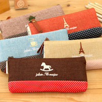 other Pencil Bag White pencil case|Korea Stationery cute creative fashion simple cotton pencil stationery Cosmetic 25g