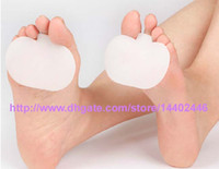 Hotel Insoles White 4000pcs lot 2000pairs RA QTY 1 Gel Metatarsal Shoe Insole Pads Ball of Foot Cushion Forefoot Care Sore Foot Insoles Feet Pain Free Shipping