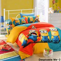 Wholesale New D cartoon Despicable Me bedding sets Frozen Elsa Anna bed set quilt cover childrens cotton duvet bedspread bed linen quilt