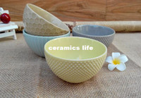 Wholesale Western candy colored embossed ceramic soup bowl Shufu Lei baked dessert bowl salad bowl Egg Cake Mold