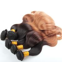 Wholesale Ombre Hair Extensions Peruvian Virgin Hair Body Wave Peruvian Ombre Human Hair Weave Ombre Peruvian Hair B Mixed