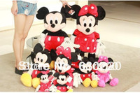 Wholesale 1pcs Available Classic Cartoon Toys cm Pink Red Mickey Mouse Minnie Mouse Plush Toy Cute Kids Birthday Gifts