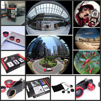 Wholesale 2014 Newest Universal in Clip On Fish Eye Lens Wide Angle Macro Lens for iphone S G S3 i9300 with Retail Package