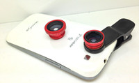 Wholesale 2014 Newest Universal in1 Clip On Fish Eye Lens Wide Angle Macro Lens For iPhone Samsung Galaxy S4 S5 HTC IPAD TABLET PC LAPTOP