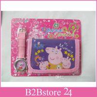 4 Styles New Free shipping Cartoon peppa pig watch Wristwatc...