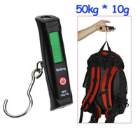 <50g Hanging Scale 30g-50kg 50kg * 10g LCD Display Digital Portable Travel Luggage Fishing Weight Hook Hanging Scale , Free shipping dropshipping wholesale