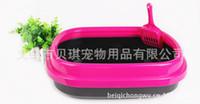 Wholesale Supplying cat litter toilet bowl large high side anti litter thrown send shovel
