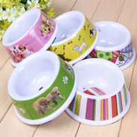 Wholesale Melamine pet bowl dog bowl cat bowl environmental skid pet bowl pet bowl large single