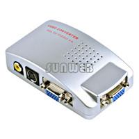 Wholesale Universal PC Laptop VGA to TV Signal Converter Box