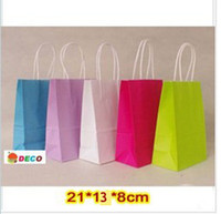Paper Recyclable ss-311 NEW kraft paper bag with handle, 21x13x8cm, Shopping bag, Fashionable gift paper bag, Wholesale price (SS-311)