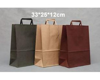 Paper Recyclable ss-474 Kraft paper bag,33X25X12CM, Garment bags,Kraft gift bag with handle,Wholesale price (SS-474)