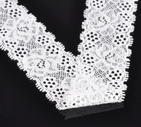 Quilt Accessories Lace Yes Free Shipping 10 Yards White Stretch Floral Cotton Nylon Lace Edge Trim Embellishment For Wedding Dress Handmade DIY Decorative