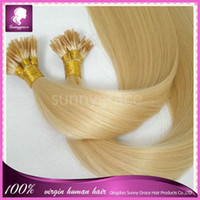 Peruvian Hair Blonde Straight 100% Natural Human Remy Hair, I Tip Hair Extension #613 Blonde Color 100pcs lot 6a queen Brazilian straight hair extensions