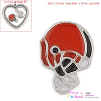 Other K01009 Connectors Floating Charms For Floating Glass Living Memory Locket Pendants Helmet Silver Tone Enamel 12mm x 9mm (K01009)