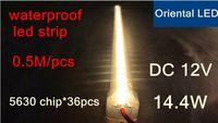 Wholesale 2pcs led rigid strip waterproof LED strip DC12V cm bar light chip meter cover with aluminum tank pc