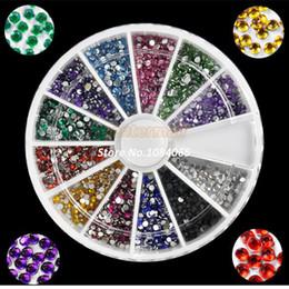 On Sale! 3d Nail Art rhinestones Decoration For UV Gel Acrylic Systems 1.5MM 2000pcs 12 Colors 4056 b004