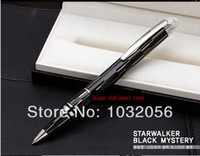Wholesale OP Unique design Luxury Mysterious Black Starwalker series ballpoint Pen with crystal top Stationery office writing pen HL147