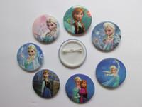 badge safety pins - frozen theme queen Anna Elsa cm round cartoon plastic safety pin badges kids party favor