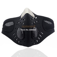 Wholesale New Half Face Motorcycle Ski Anti pollution Mask Outdoor Sports Mouth muffle Dustproof With Filter B11 TK0964