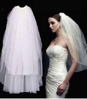 Wholesale 2015 Wedding Accessories New Design Short Two Layer Bridal Veils Comb Wedding Party Fashion W20140068 Gowns Top Selling Modern