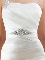 Wholesale 2014 New Style Custom Made Wedding Sashes Bridal Belts Rhinestone Beaded Crystal Sequined High Quality Wedding Accessories