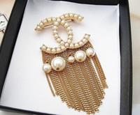 african dance clothes - Promotion Girl Dance Party Clothes Quality Pearl Tassel Brooch Badge Women s Exquisite brooches