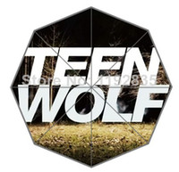 Polyester auto tv shows - OP Custom Hot tv show Teen Wolf picture for Printed Auto Foldable Umbrella Hot sale
