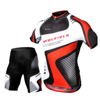 Breathable bib cycling - 2016 High Quality Outdoor Cycling Riding Clothing Bicycle Bike Short Sleeve Jersey Bib Shorts Set Breathable Clothes H10811