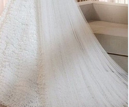 Wholesale New Arrival Chapel Length Simple Tulle Bridal Veils Tiers Long Veils for Wedding Bridal Accessories