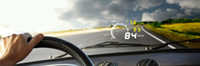 Wholesale Hoot Sale New W02 Car HUD Head Up Display quot Size V Working Voltage With OBDII OBD Interface KM h MPH Speeding Warning K1199