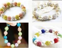 Wholesale Luxury Neon Bracelet Color Beads Disco Shamballa Ball Stand Stretch Bracelets Good Lucky Fimo Bracelets M1076