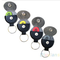 Wholesale Genuine Real Leather Key Chain Guitar Picks Holder Keychain Plectrums Bag Case Sale
