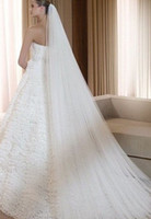 Two-Layer beautiful meter - 2015 Newest Bridal Accessories Best Made Long Meters Two Layers Wedding Veils With Comb High Quality W20140077 Beautiful
