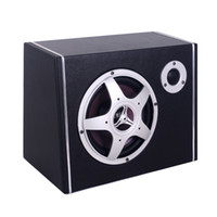 Wholesale 20 power trapezoidal black simulated leather car active subwoofer inch car stereo with treble R828T