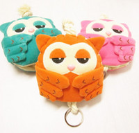 Wholesale Hot Sell Children s Day Gift Cartoon Owl Money Bags Kids Cute Cloth Korea Key Bag Childs Boys Girls Birthday Card Keys Handbags H1169